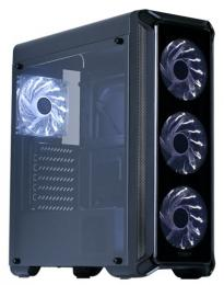 ZALMAN I3 EDGE, ATX, BLACK, FRONT ACRYL, WINDOW, 2x3.5